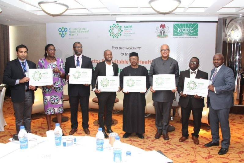 Honourable Ministers of Health of the Nigerian Federal Ministry of Health at the launch of the NCDC/PHN A4EPR