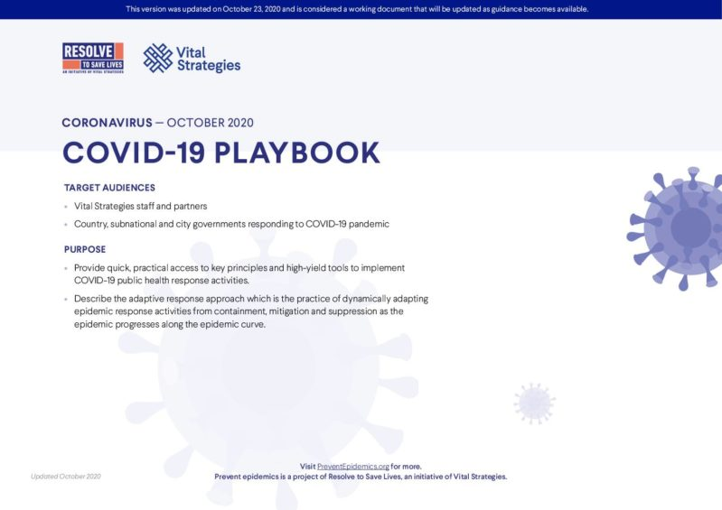 COVID-19 Playbook cover