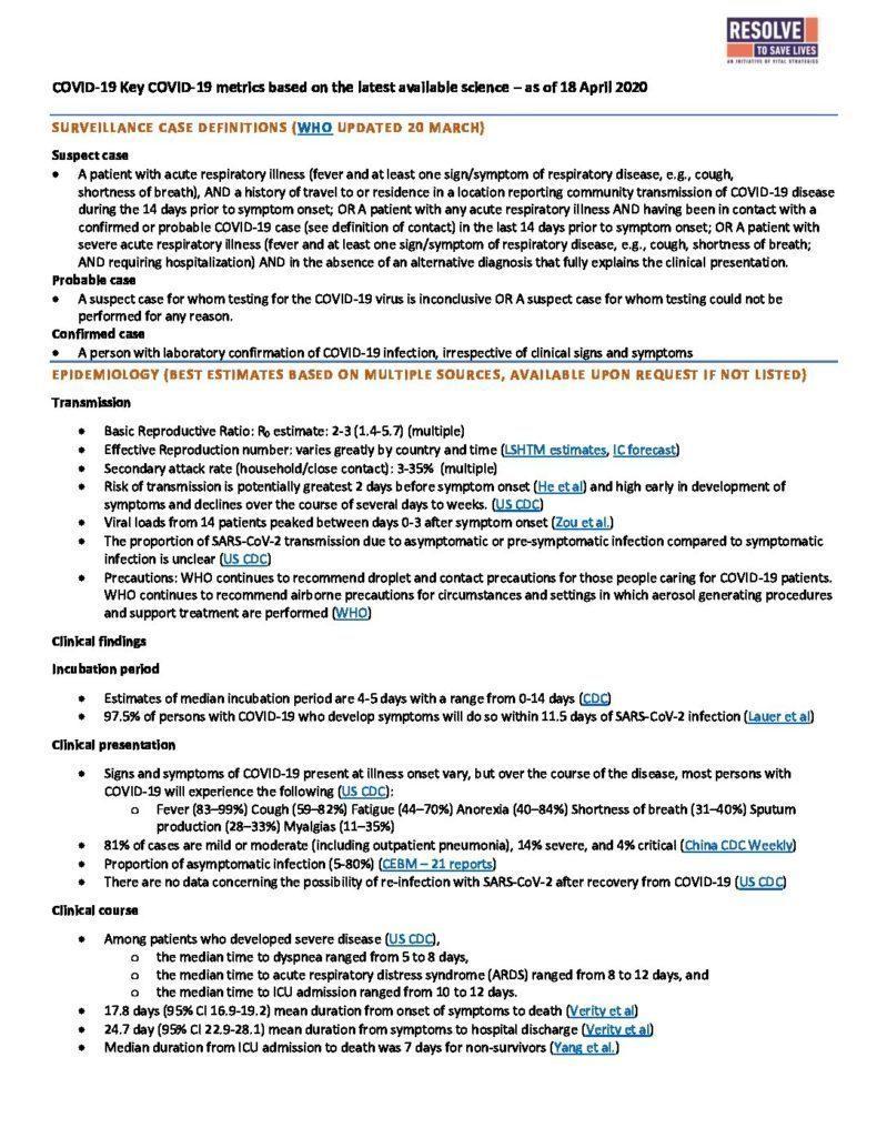 Science Metrics April 20 2020 cover