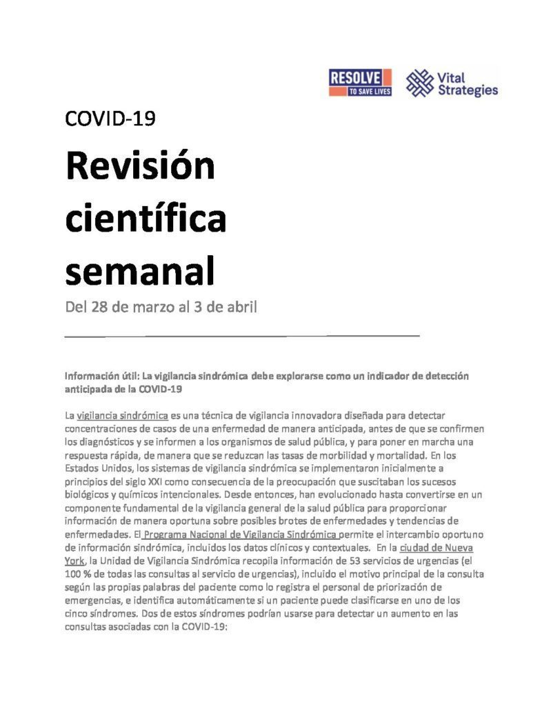 Science Review Spanish Mar 28 - Apr 3 2020 cover