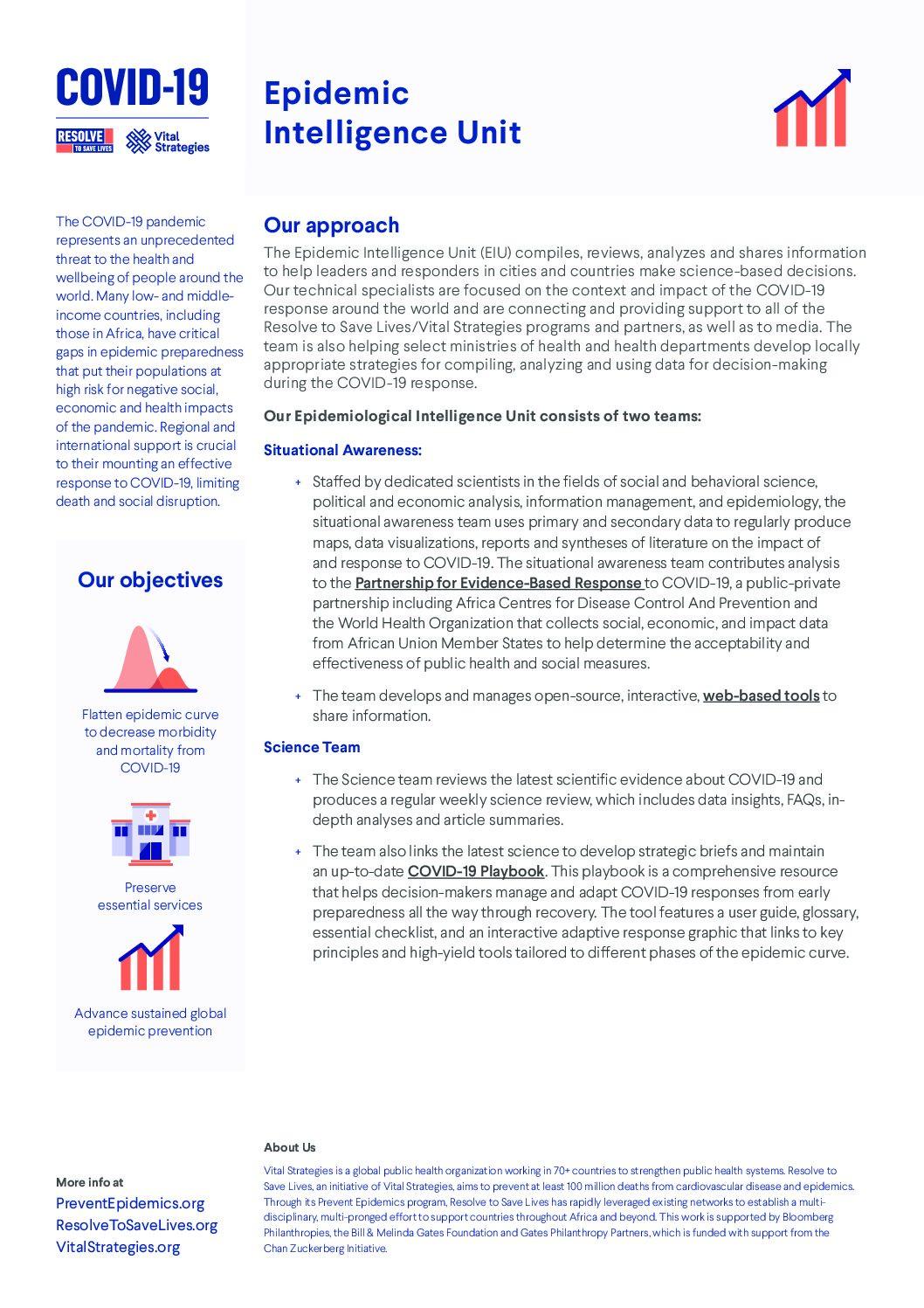 Epidemic Intelligence Unit PDF