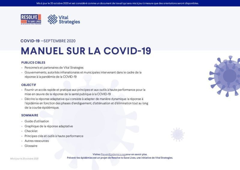 Manuel sur la COVID-19 cover