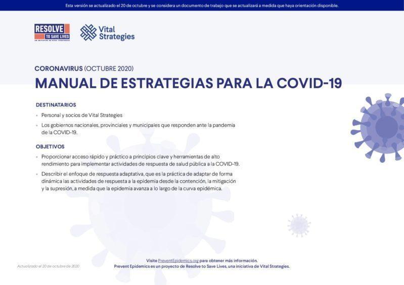 Manual de estrategias para la COVID-19 cover