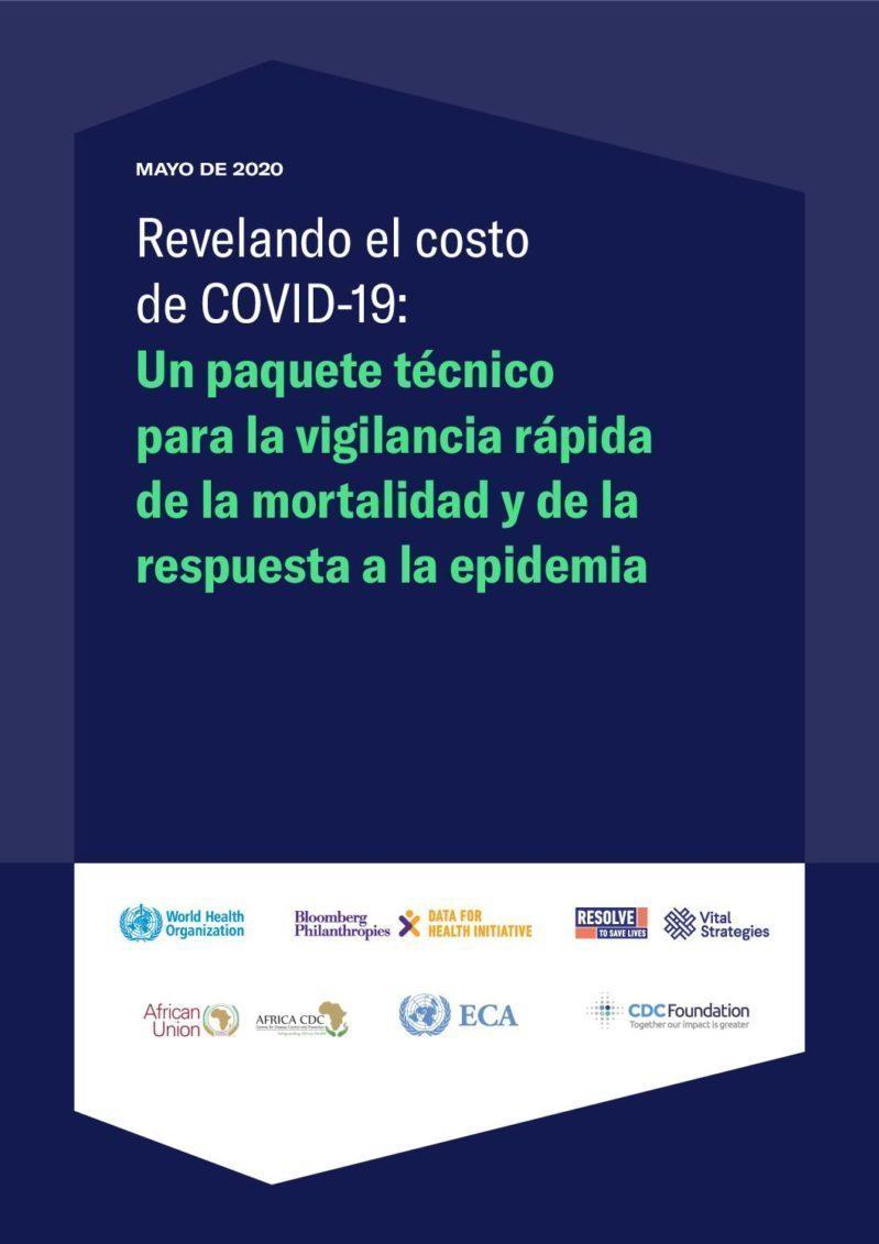 Revelando el costo de COVID-19: Un paquete técnico para la vigilancia rápida de la mortalidad y de la repuesta a la epidemia cover