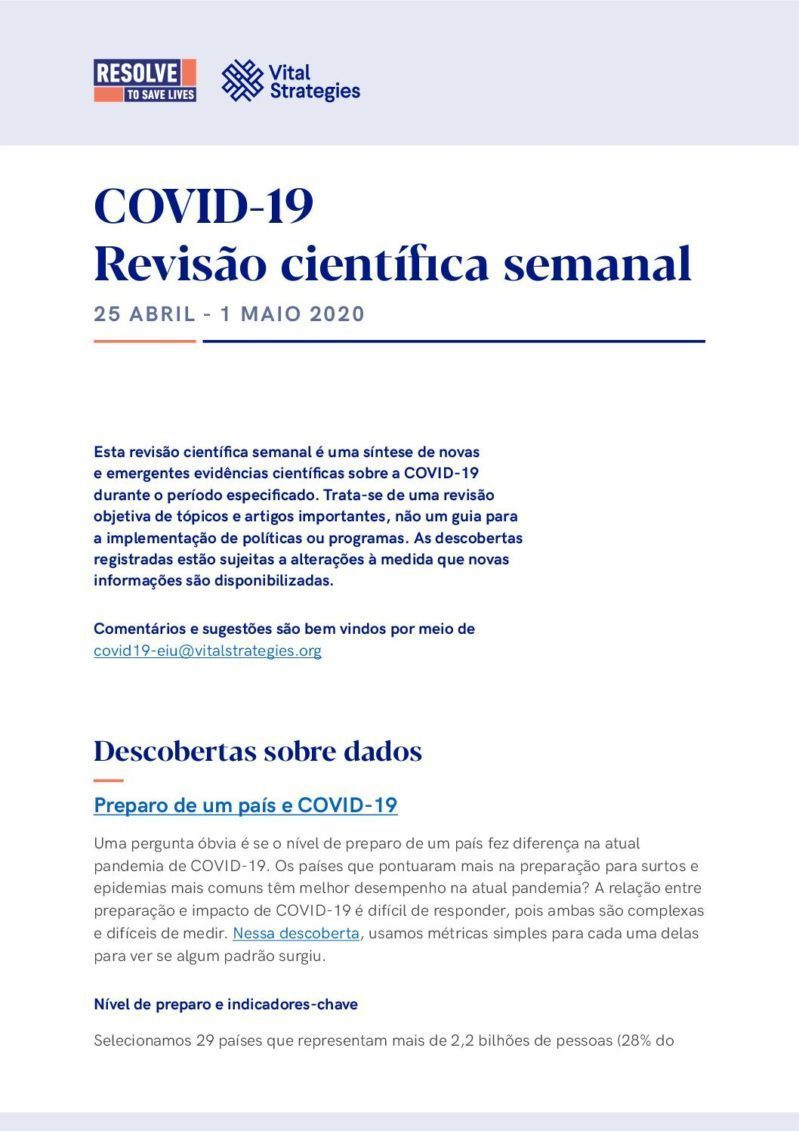 Science Review Portuguese April 25 - May 1 2020 cover