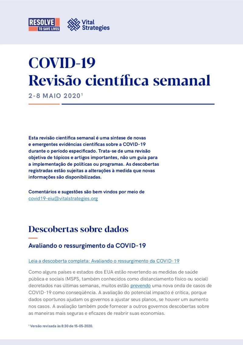 Science Review Portuguese May 2 - 8 2020 cover