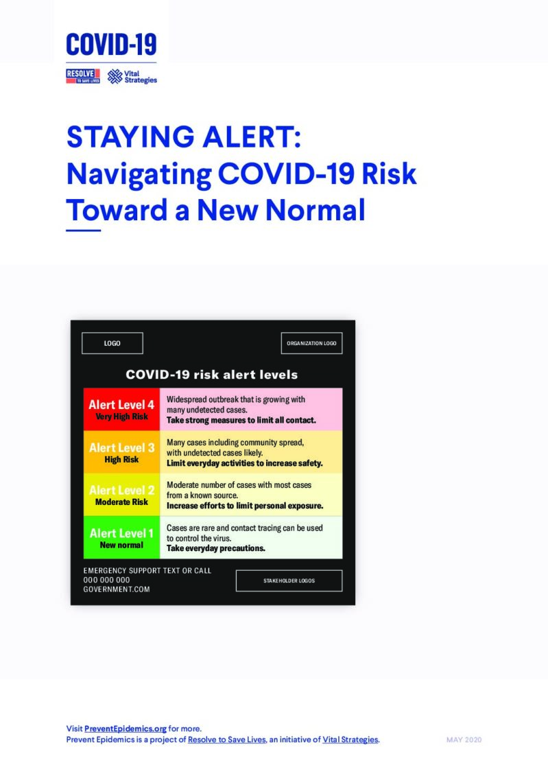 Staying Alert: Navigating COVID-19 Risk Toward a New Normal cover