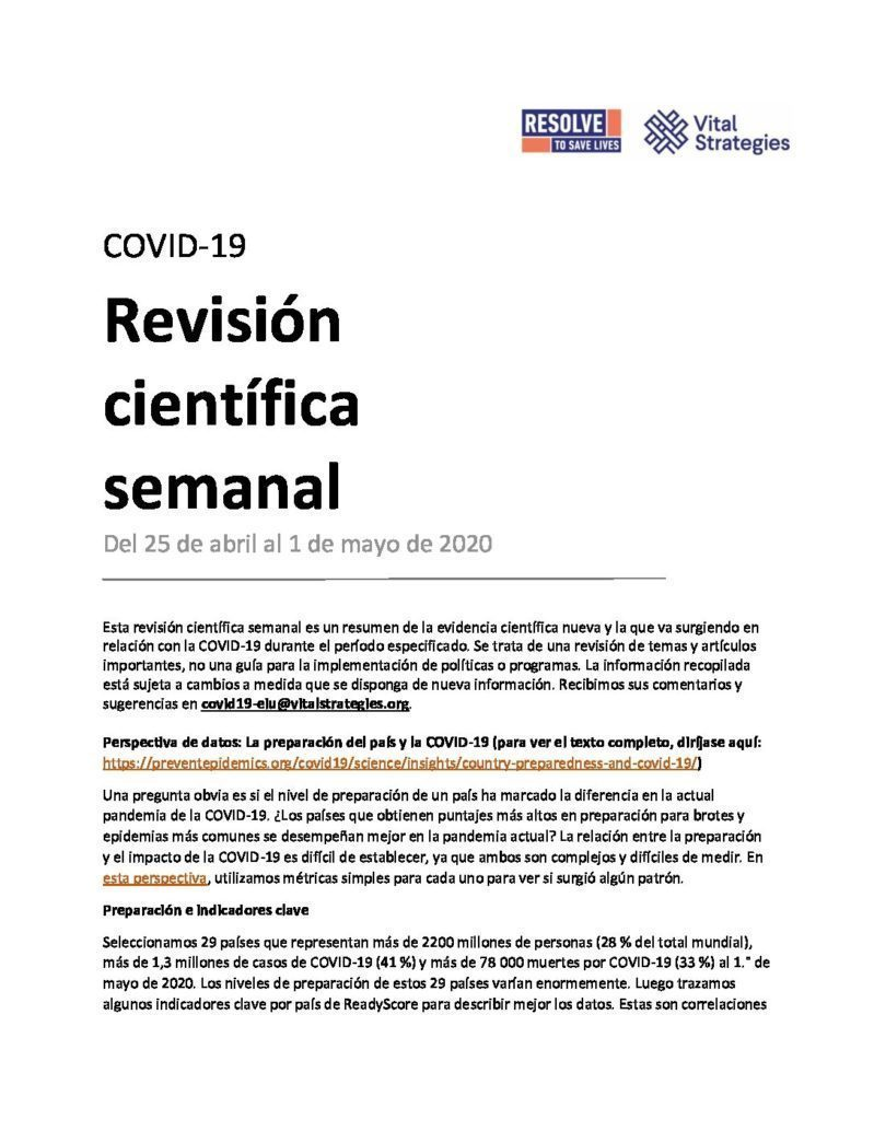 Science Review Spanish April 25 - May 1 2020 cover