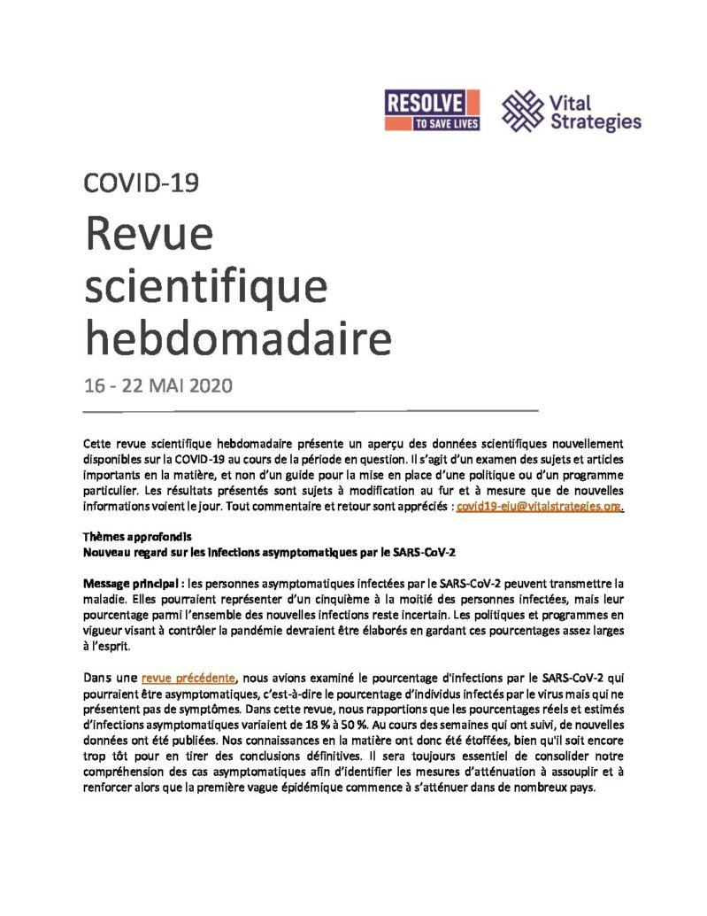 Science Review French May 16 - 22 2020 cover