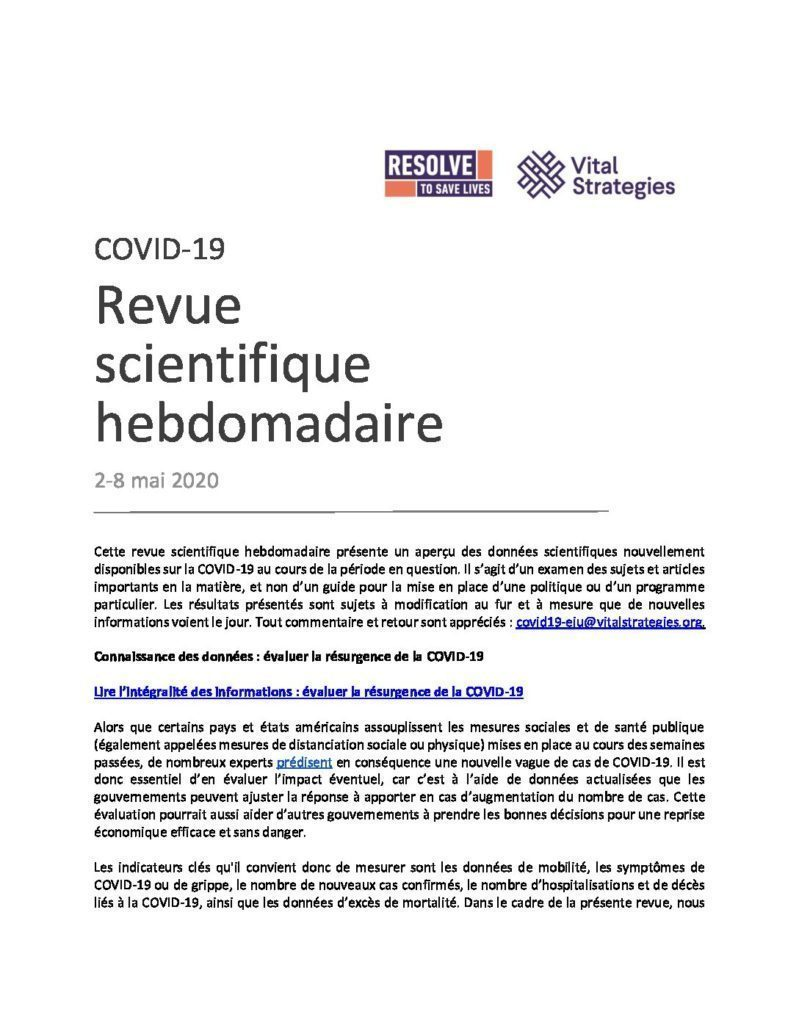 Science Review French May 2 - 8 2020 cover