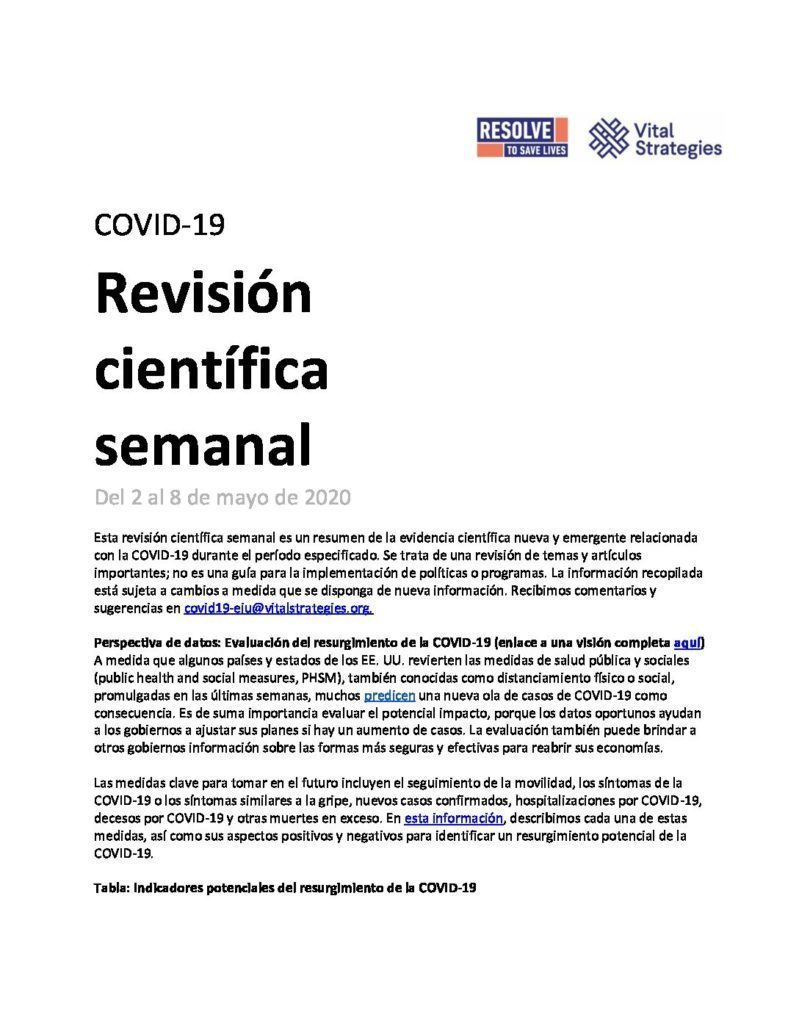 Science Review Spanish May 2 - 8 2020 cover