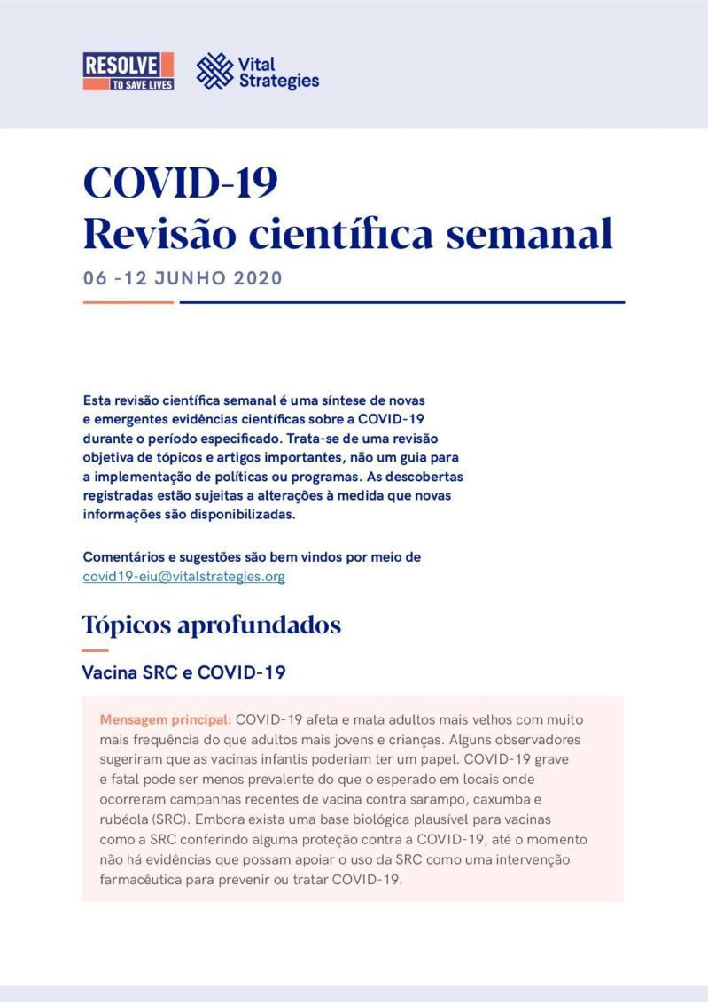 Science Review Portuguese June 6-12 2020 cover