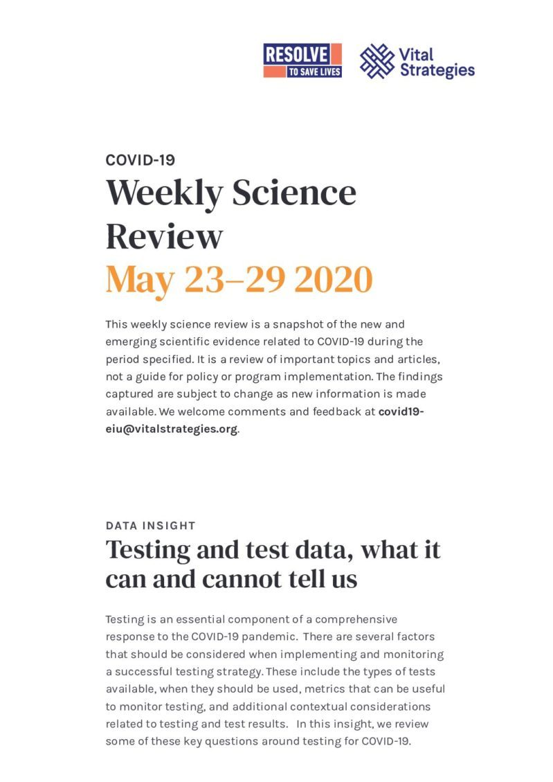 Science Review May 23–29 2020 cover