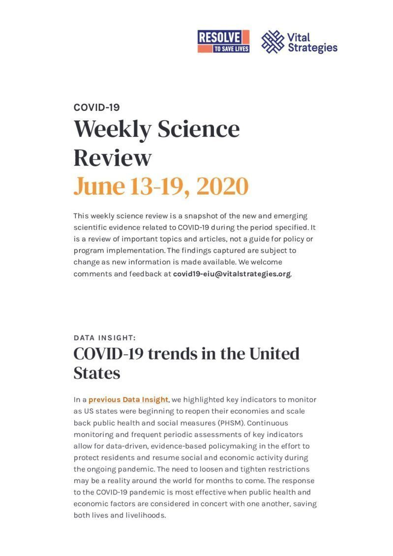 Science Review June 13-19 2020 cover