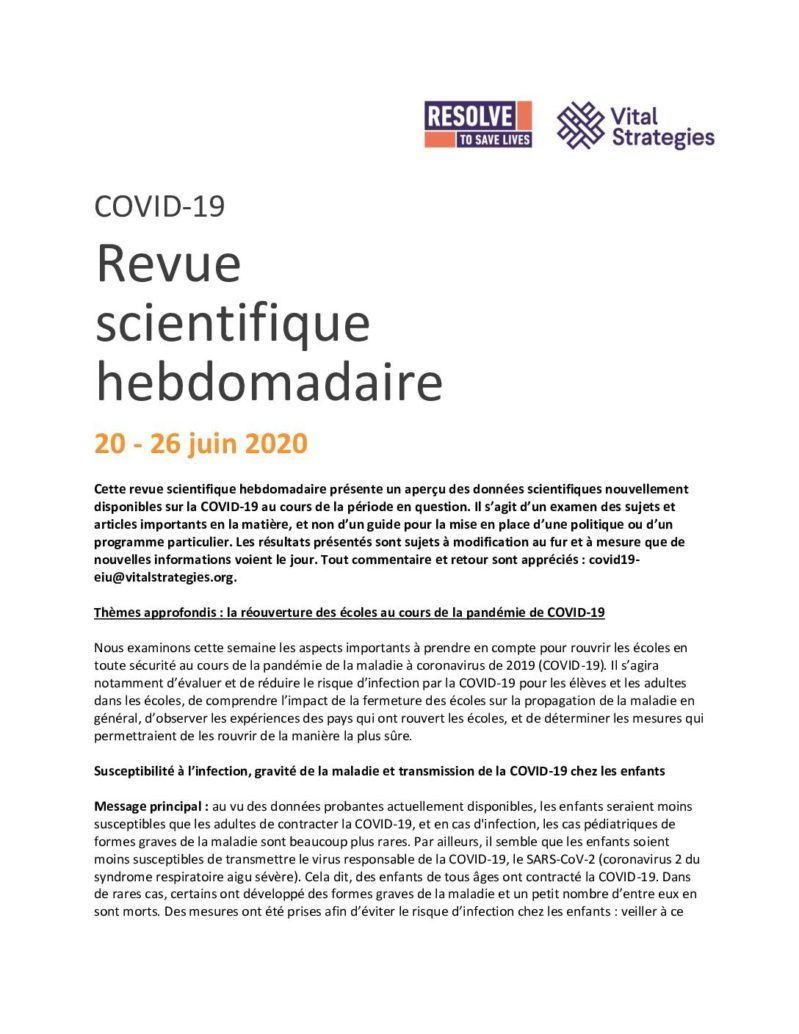 Science Review French June 20-26 2020 cover