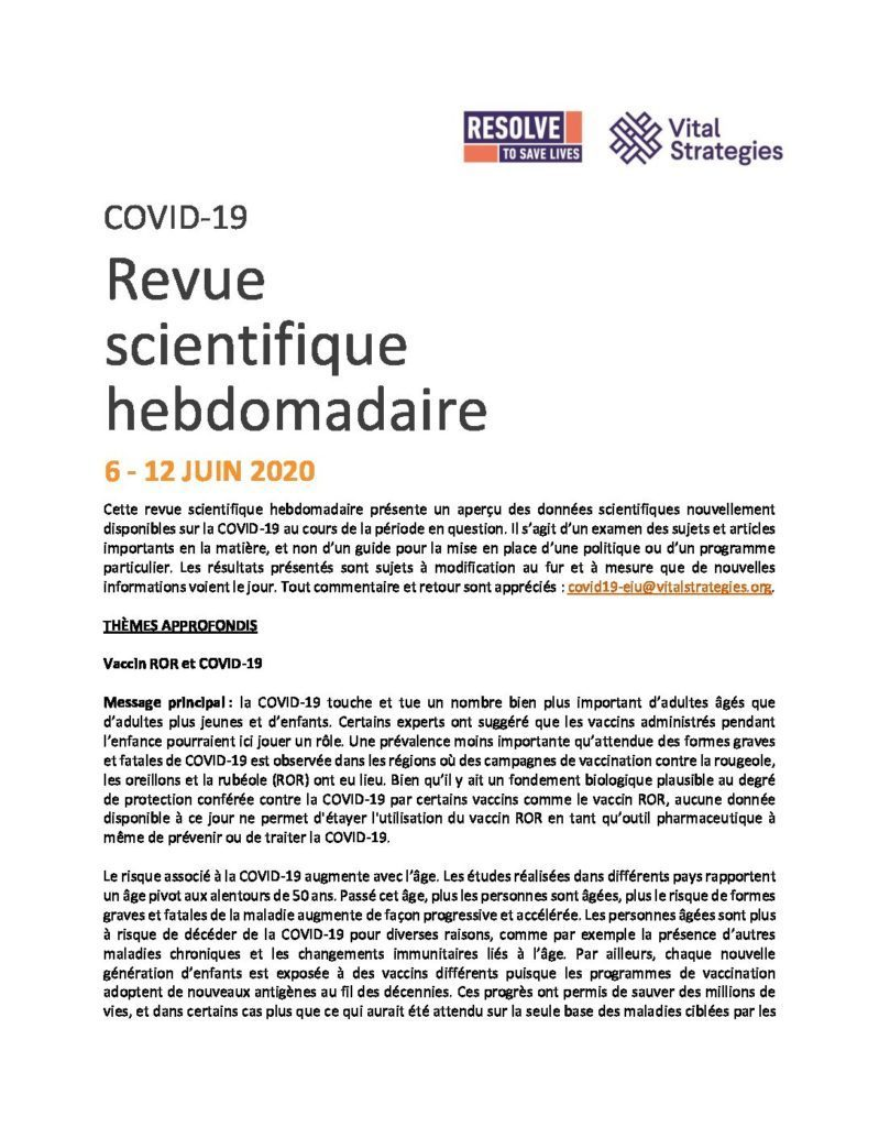 Science Review French June 6-12 2020 cover