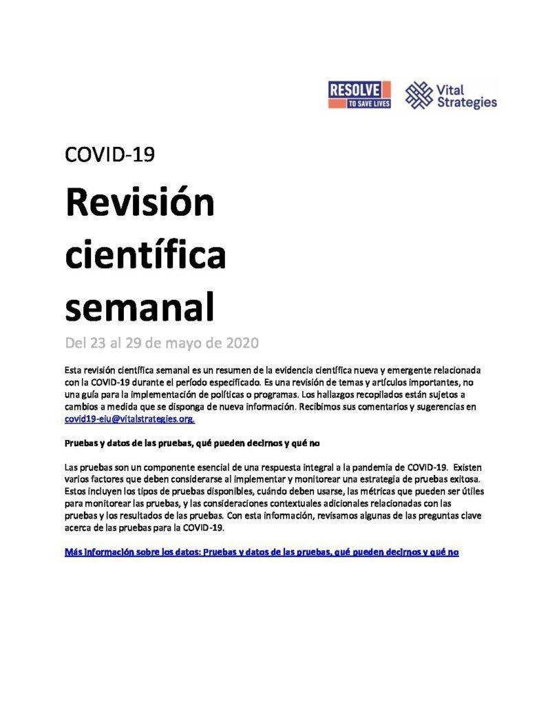 Science Review Spanish May 23-29 2020 cover