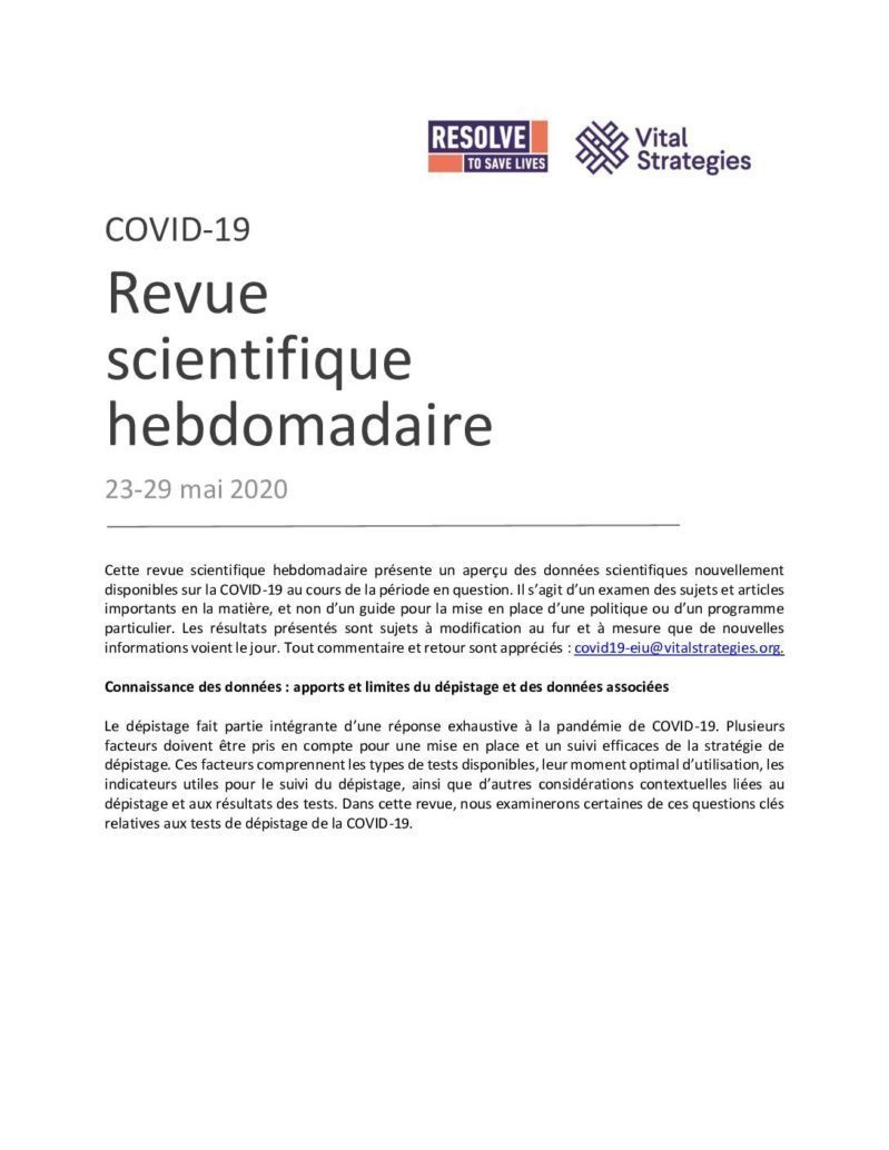 Science Review French May 23-29 2020 cover