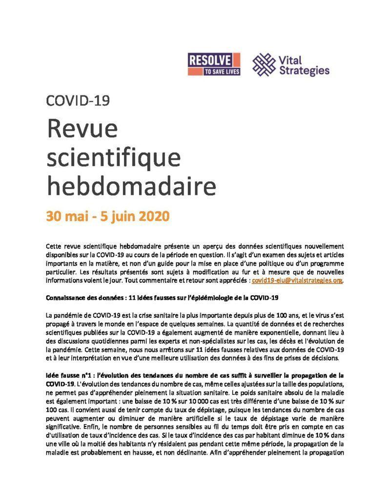Science Review French May 30 - Jun 5 2020 cover