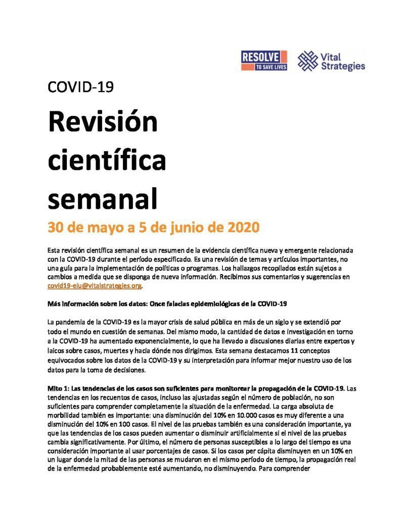Science Review Spanish May 30 - Jun 5 2020 cover