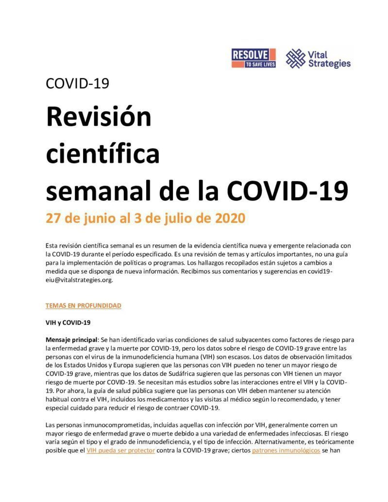 Science Review Spanish June 27-July 3 2020 cover