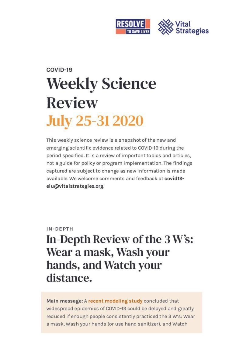 Weekly Science Review July 25-31 2020 cover
