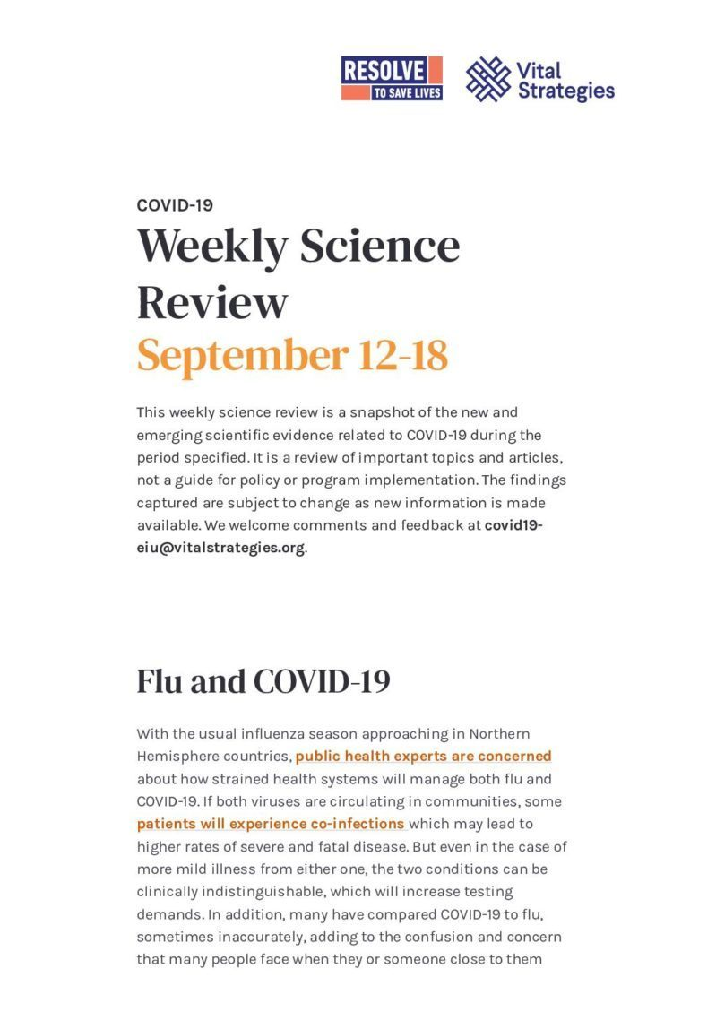 Weekly Science Review September 12-18 cover