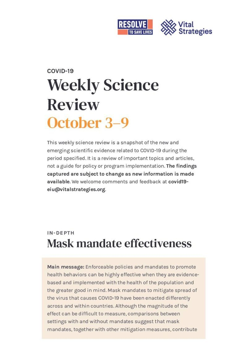 Weekly Science Review October 3–9 cover