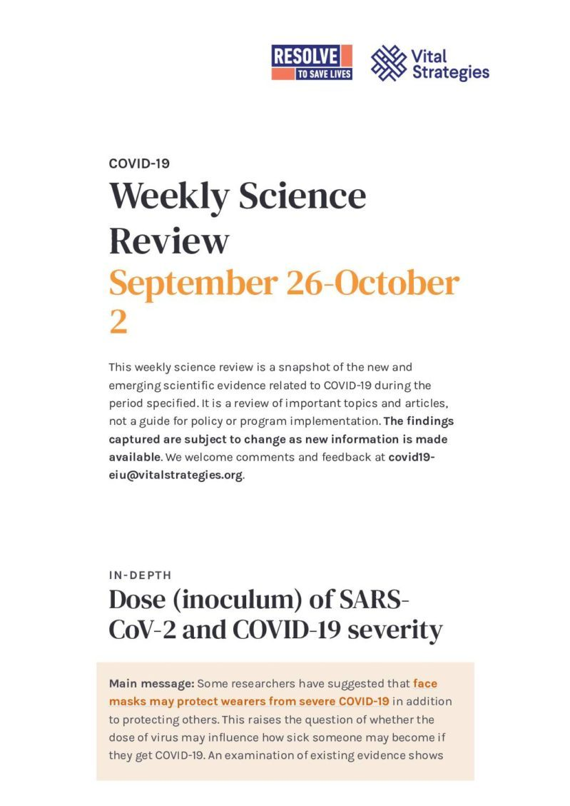 Weekly Science Review - September 26-October 2 cover