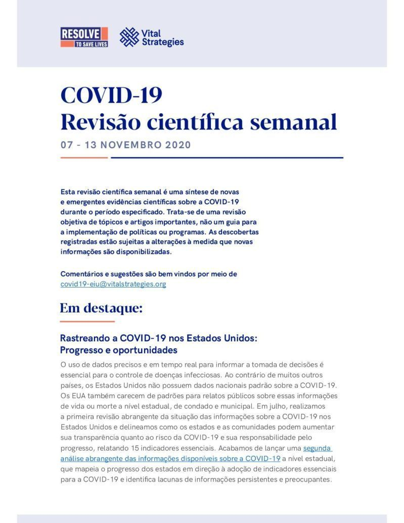 Science Weekly Portuguese 7-13 November 2020 cover
