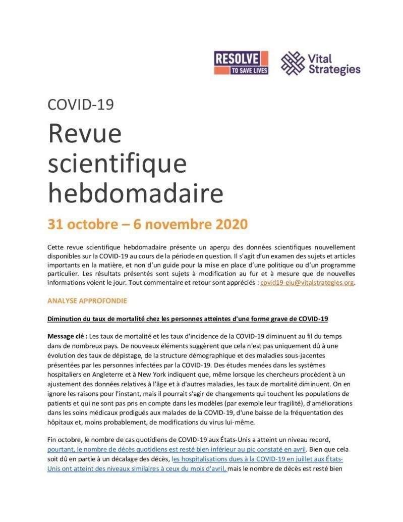 Science Review French 31 October - 6 November 2020 cover