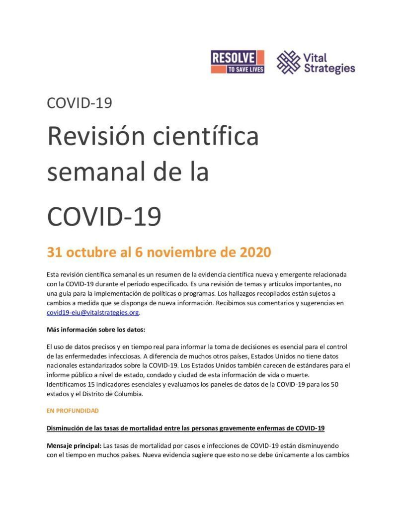 Science Review Spanish 31 October - 6 November 2020 cover