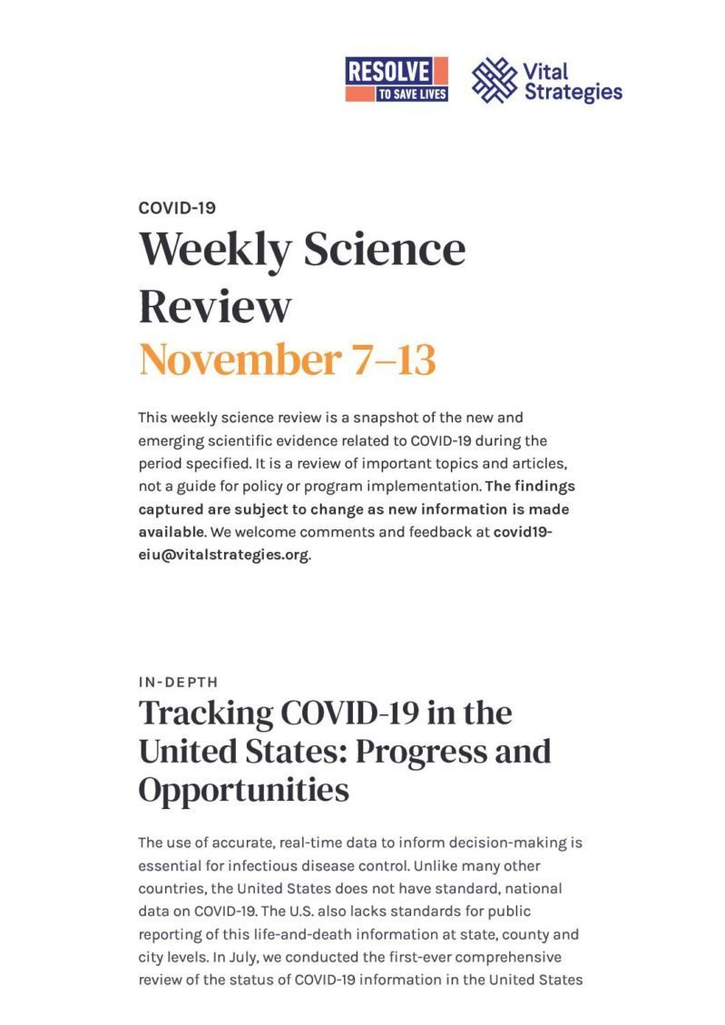 Weekly Science Review - November 7–13 cover