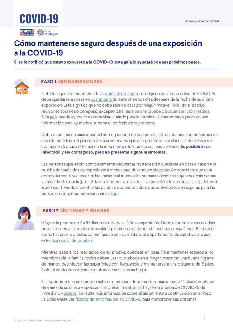 Cómo mantenerse seguro después de una exposición a la COVID-19 cover