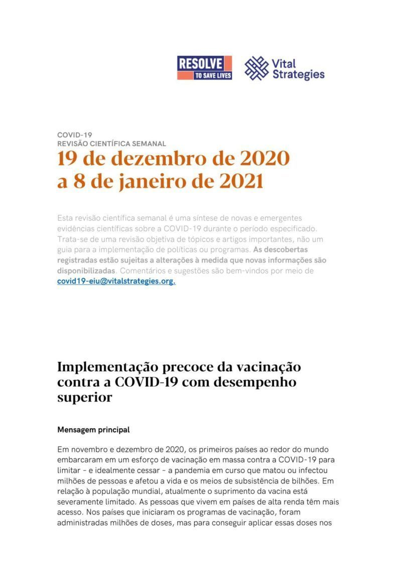 Science Weekly Portuguese 19 December 2020 - 8 January 2021 cover
