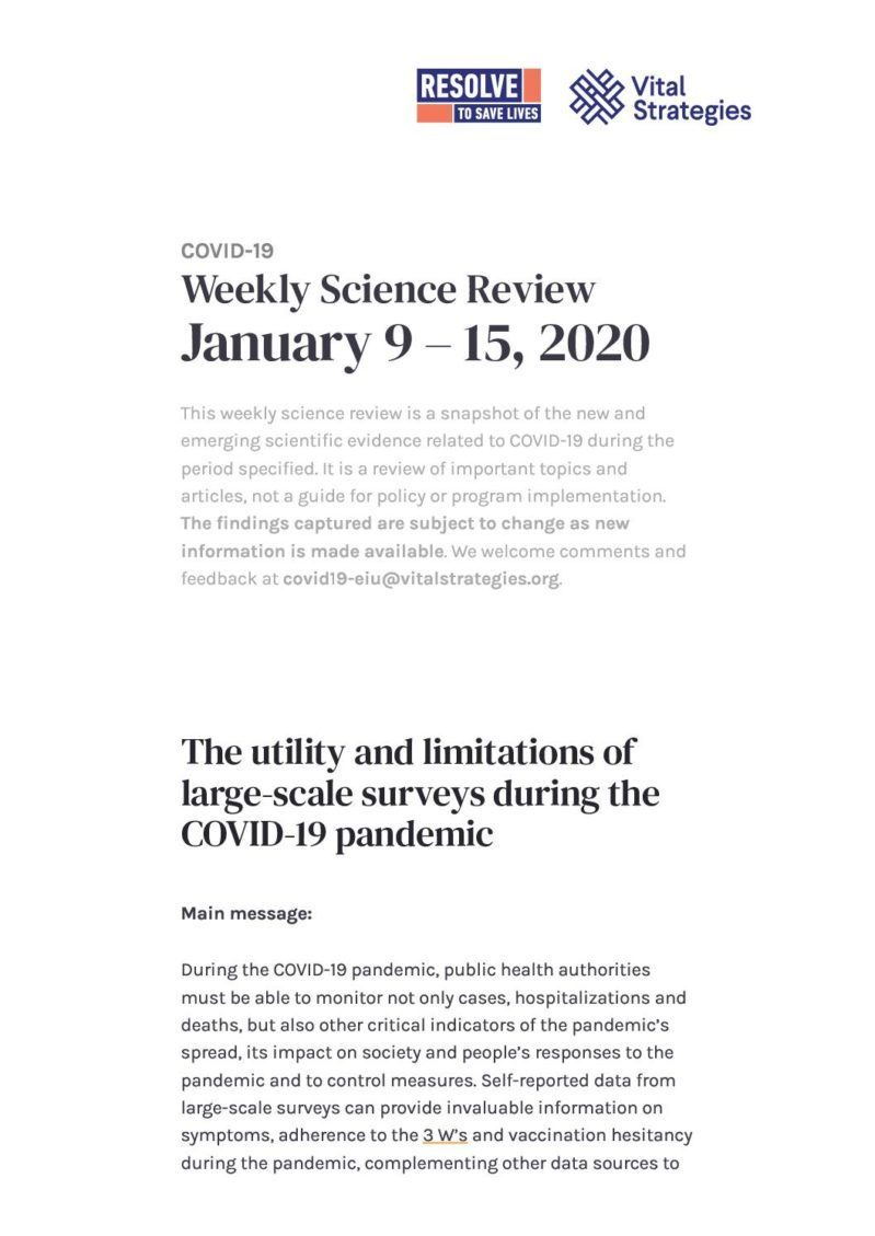 Science Review January 9 - 15, 2020 cover