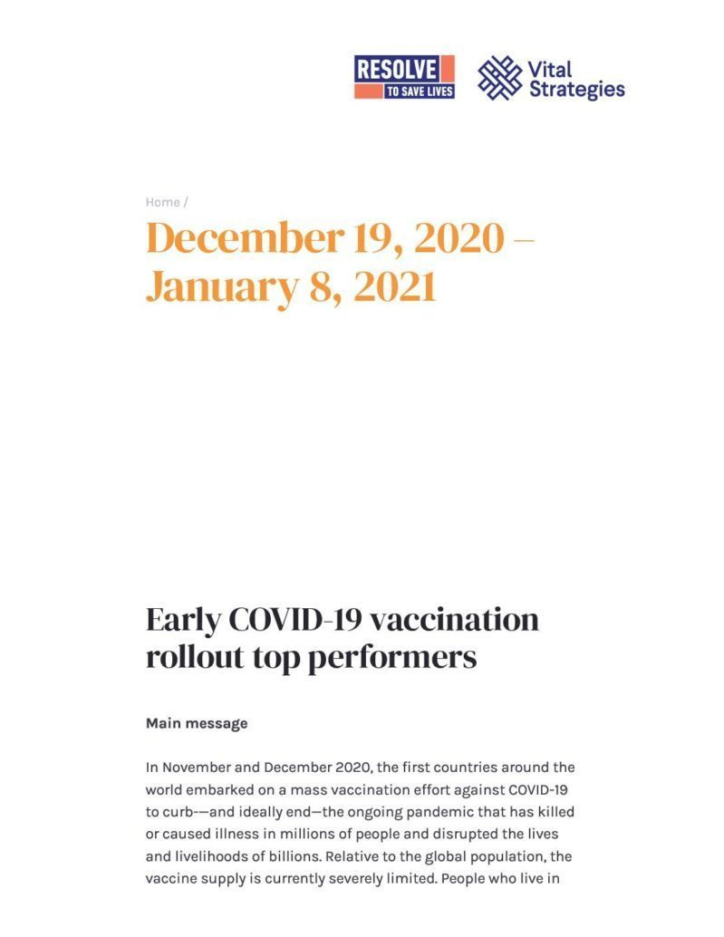 Science Review December 19, 2020 - January 8, 2021 _ Prevent Epidemics cover