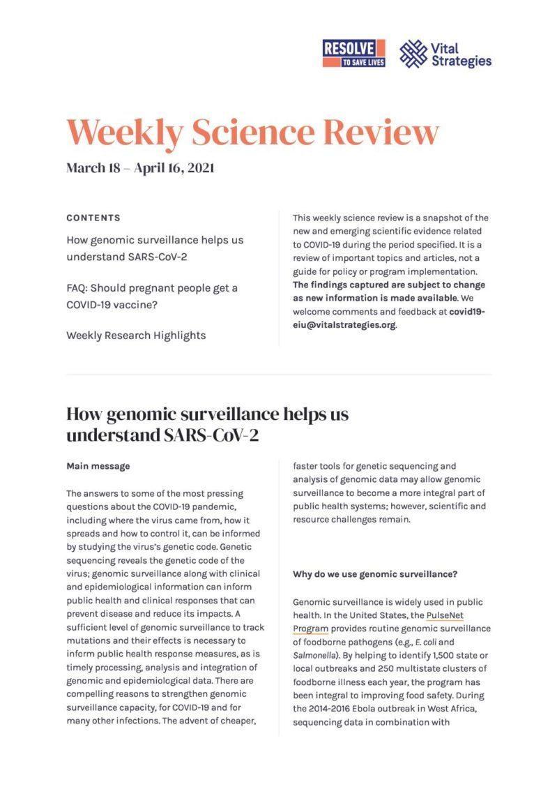 Science Review_ March 18 - April 16, 2021 _ Prevent Epidemics cover