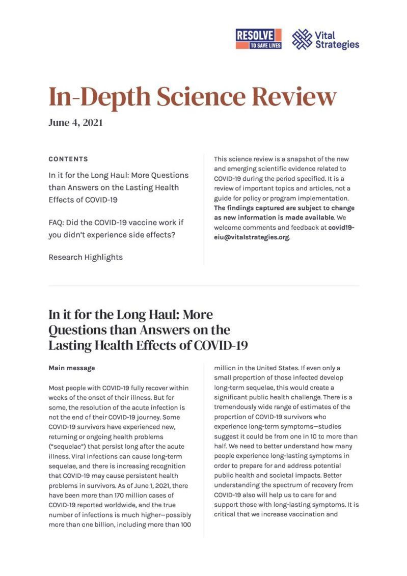 Science Review_ June 4, 2021 _ Prevent Epidemics cover